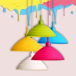 Lustre Simple créative suspension pour Chambre à coucher Restaurant plié coloré