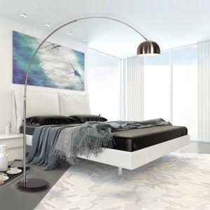 (Entrepôt UE) (DISPONIBLE) Moderne Simple Salon Salle d'étude créative lampadaire d'argent debout