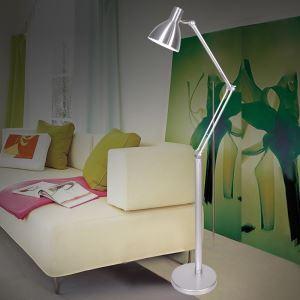 (Entrepôt UE) Moderne Simple Salon Salle d'étude créative lampadaire d'argent debout