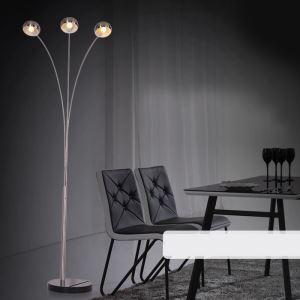 Moderne Simple Salon Salle d'étude créative lampadaire debout trois têtes