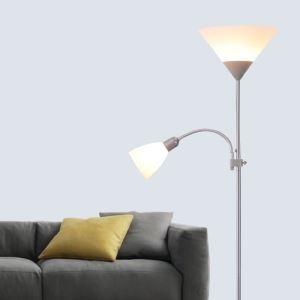 (Entrepôt UE) Moderne Simple Salon Salle d'étude créative lampadaire debout deux têtes