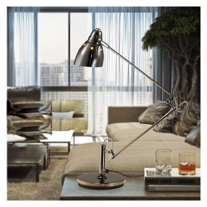 lampe de bureau d argent design luminaire pour chambre d 39 tude. Black Bedroom Furniture Sets. Home Design Ideas