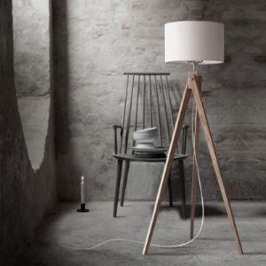 """(Entrepôt UE) 59""""Haute linge Tambour d'abat-jour et trépied  Lampe en bois plancher conception"""