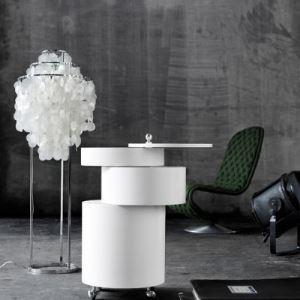 Coquille Gouttelette forme Blanc Lampe de plafond