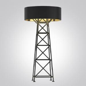 59'Hauteur Noir/Blanc Concepteur Lampe de plafond avec échelle Base