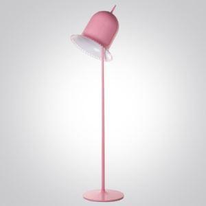Adorable et belle Rose/Noir Finition Conception d'abat-jour en forme de chapeau Lampadaire