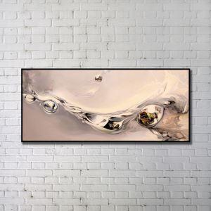 """Art contemporain Peinture numérique abstraite de pulvérisation+Peints à la main cadre noir Taille48""""X20"""""""