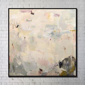 """Art contemporain Peinture numérique abstraite de pulvérisation+Peints à la main cadre noir Taille40""""X40"""""""