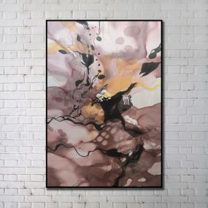 """Art contemporain Peinture numérique abstraite de pulvérisation+Peints à la main cadre noir Taille32""""X48"""""""