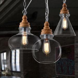 prise en bois Verre abat-jour Industriel Coloré LOFT Pendentif lustre