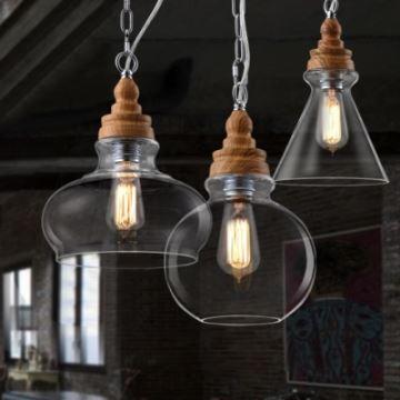 lustre en verre style industriel suspension design. Black Bedroom Furniture Sets. Home Design Ideas