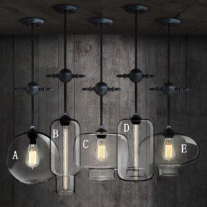 (Entrepôt UE) Suspension en verre Industriel simple lustre luminaire design pour cuisine chambre salon