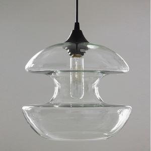 (Entrepôt UE) Suspension en forme d'Haltère en verre Lustre moderne industriel luminaire cuisine décoratif pour salle à manger café