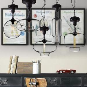 (Entrepôt UE)Style Industriel simple luminaire suspendue lampe suspension design pour cuisine salon couloir