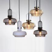 lustre en verre d28cm moderne d coratif suspension en conception de bulle luminaire cuisine. Black Bedroom Furniture Sets. Home Design Ideas