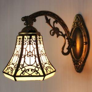 (Entrepôt UE) 6 Inches Largeur Tiffany Une lampe Applique murale avec Interrupteur
