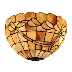 (Entrepôt UE) Douze Inch Tiffany Style Lampe murale avec Feuille de Orchidée Décor