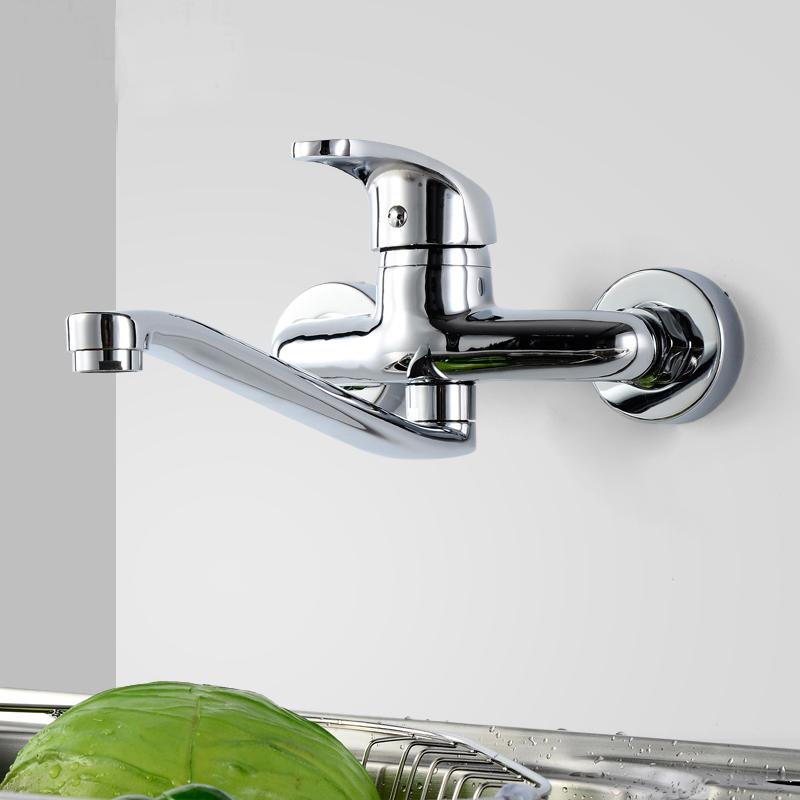 robinet de cuisine en laiton solide l18cm pour salle de bain contemporaine. Black Bedroom Furniture Sets. Home Design Ideas