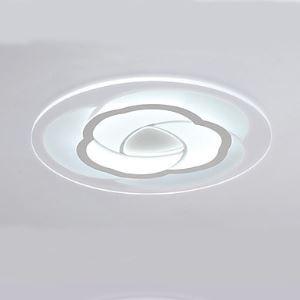 Simple Créative en forme de fleur Très mince LED Salle Eclairage chaleureux