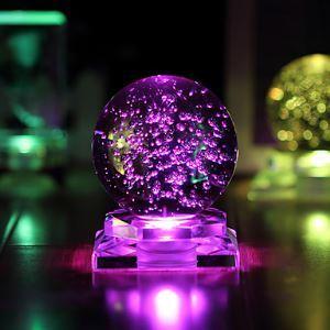 (Entrepôt UE) 1PC Cristal Balle Lueur Créatif Cadeaux Led veilleuse Lampe