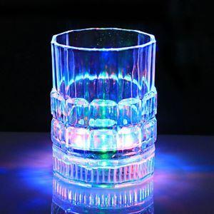 1PC couleur coloré Créatif Pub KTV Commutateur Tasses flash en verre Led veilleuse Lampe de nuit LED