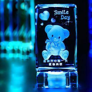1PC Cristal Décorative Ameublement Articles Cadeaux veilleuse lampe de nuit