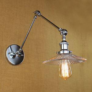 (Entrepôt UE) Applique murale / lampe pour salle de bain / applique murale extérieure / lampe murale pour lecture ampoule incluse moderne/Contemporain verre