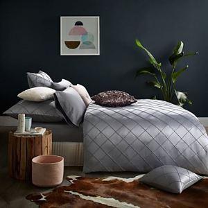 (Entrepôt UE) luxe Ensemble de literie Reine Roi Taille literies couleur gris argent
