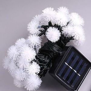(Entrepôt UE) 7M Solaire Led Lampes avec 50Led Balle Fête lampe décoration Noël Lampes De plein air Lumière