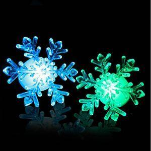(Entrepôt UE) Nouveau 2015 7-Couleurs changeant flocon de neige Fenêtre LED Noël Décoration Lampe de nuit