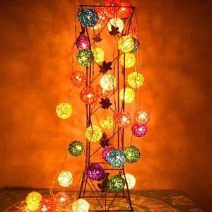 (Entrepôt UE) 4M 20LEDs RGB LED Rotin Balle Chaîne de lampe Noël Chaîne de lampe pour Décoration (AC 110-220V)