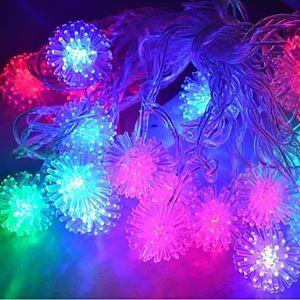 (Entrepôt UE) 4M 20LEDs RGB LED boule de neige Chaîne de lampe Noël Chaîne de lampe pour Décoration (AC 110-220V)