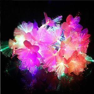 (Entrepôt UE) 20-LED 4M Imperméable Noël Décoration Coloré Fleurs RGB Lampe LED Chaîne de lampe (220V)