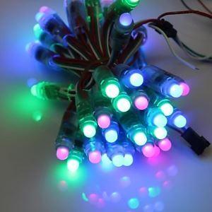 (Entrepôt UE) GOESWELL™ WS2811 LED Pixel Chaîne de lampe 50Pcs/Chaîne 12mmDC5V RGB Couleur pour Canal Lettre Noël Arbre