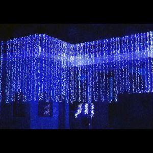 (Entrepôt UE) 8Mx3M Bleu LED Chaîne de lampe avec 800 LEDs