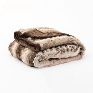 (Entrepôt UE) Plaid fausse fourrure couverture canapé extrémité du lit prendre couverture décoratifs en peluche