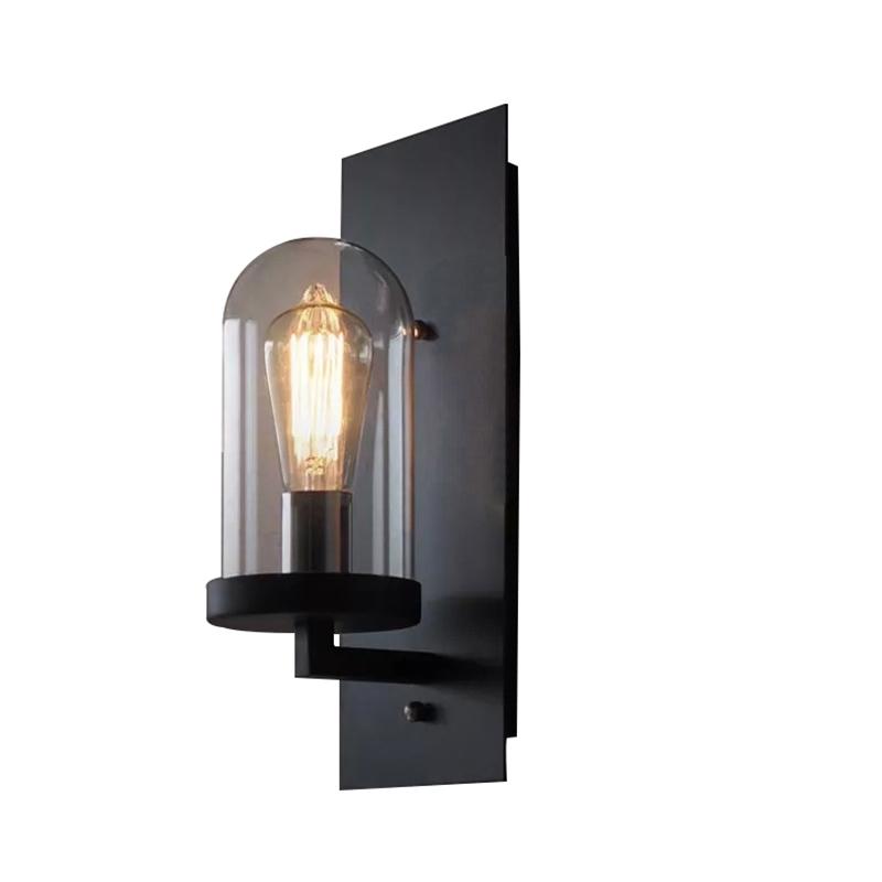 lampe murale int rieur h25cm applique murale luminaire cuisine bar style am ricain r tro industriel. Black Bedroom Furniture Sets. Home Design Ideas
