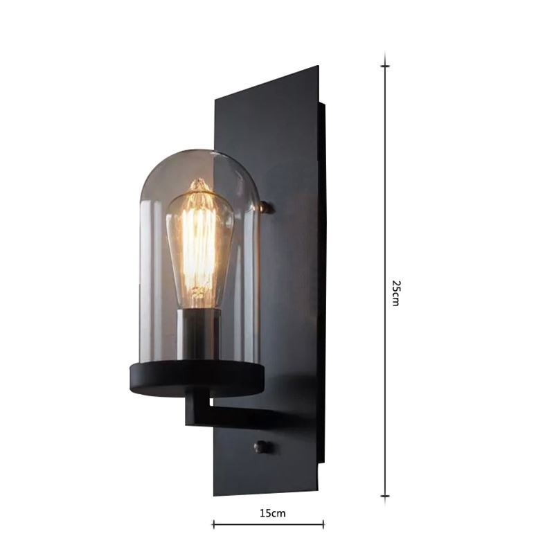 lampe murale int rieur h25cm applique murale luminaire cuisine bar style am ricain r tro industriel. Black Bedroom Furniture Sets. Home Design Ideas