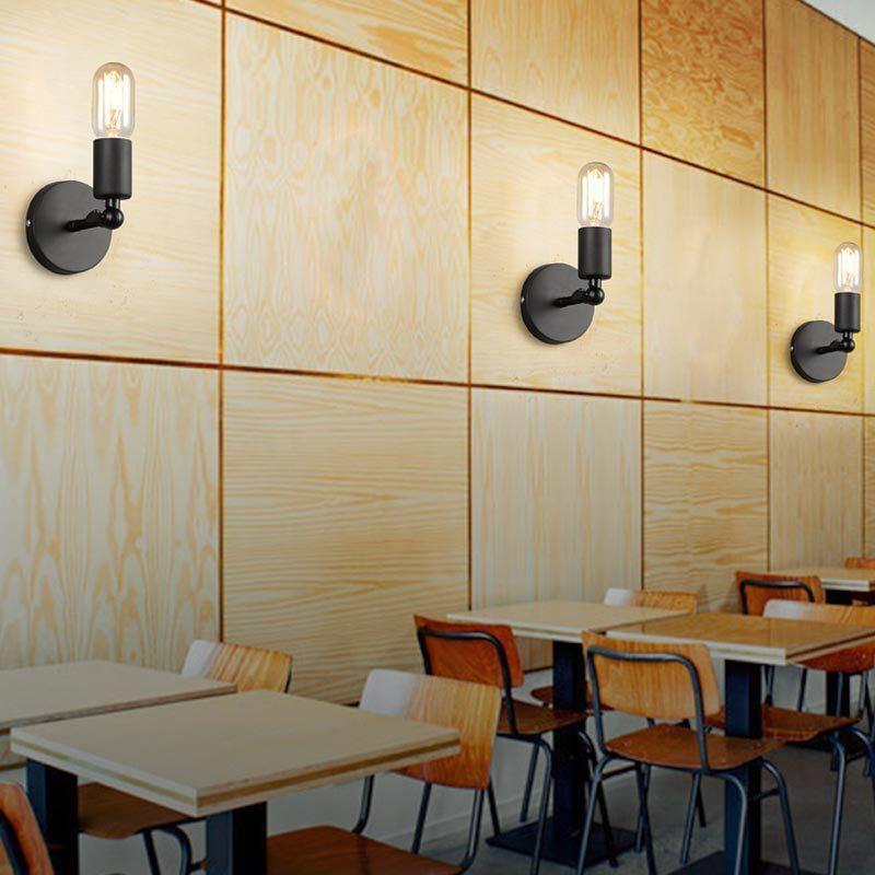 applique murale int rieur style industriel vintage en fer r tro lampe murale pour cuisine bar. Black Bedroom Furniture Sets. Home Design Ideas