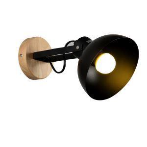 (Entrepôt UE) Lampe de chevet applique murale style américain bois créatif 1 lumière pour chambre couloir