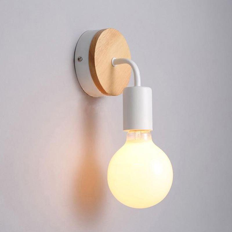 lampe applique murale style nordique moderne simple personnalit bois cr atif fer applique. Black Bedroom Furniture Sets. Home Design Ideas