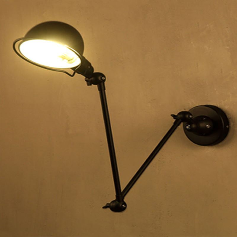 Applique murale 1 lampe style américain rustique rétro en fer pour ...