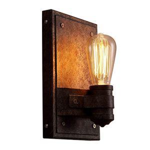 Style américain antique rustique en fer applique murale une lampe