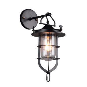 (Entrepôt UE) Applique murale style américain rétro industriel en fer une lampe