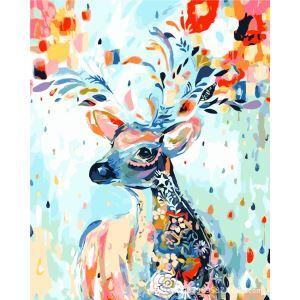 Moderne simple DIY peinture à l'huile peinte à la main Cerfs arc peinture décorative 40*50
