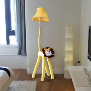 Moderne Simple Lampadaire en tissu de bande dessinée de lion
