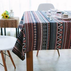 (Entrepôt UE) Nappe de table Cru pastoral du Sud-vent repas auberge basse rectangulaire recouverte tissu de coton de fils teints