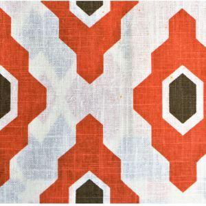 (Entrepôt UE) Orange Haute qualité d'impression géométrique des tissus textiles de coton