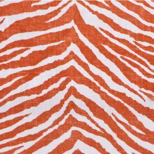 (Entrepôt UE) Orange haut de gamme zèbre impression Tissus en coton textiles