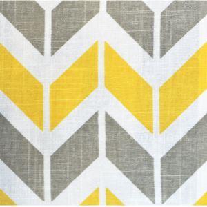 (Entrepôt UE) Jaune Haute qualité d'impression géométrique des tissus textiles de coton
